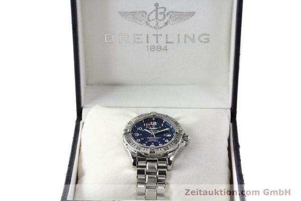 Used luxury watch Breitling Superocean steel automatic Kal. B17 ETA 2824-2 Ref. A17360  | 142144 07