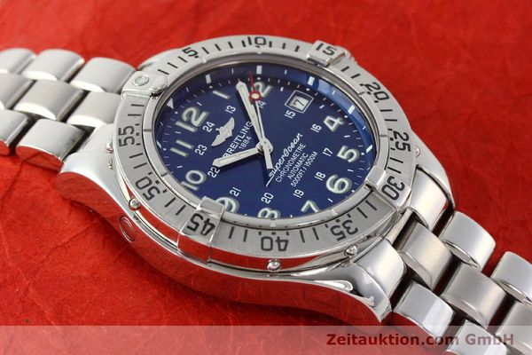 Used luxury watch Breitling Superocean steel automatic Kal. B17 ETA 2824-2 Ref. A17360  | 142144 14