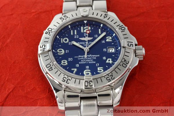 Used luxury watch Breitling Superocean steel automatic Kal. B17 ETA 2824-2 Ref. A17360  | 142144 15