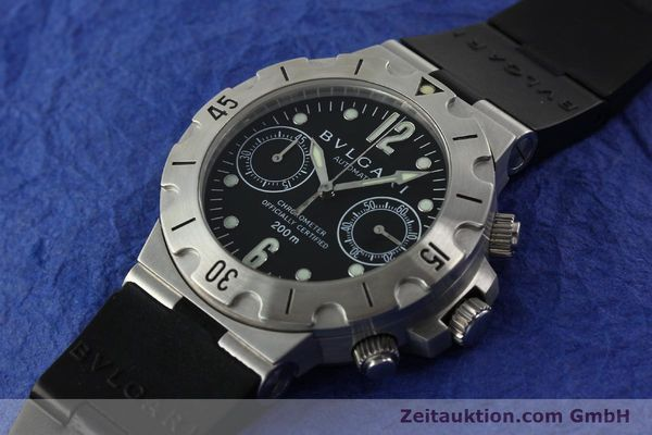 Used luxury watch Bvlgari Scuba chronograph steel automatic Kal. MBBV 2282 Ref. SCB38S  | 142146 01