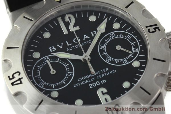 Used luxury watch Bvlgari Scuba chronograph steel automatic Kal. MBBV 2282 Ref. SCB38S  | 142146 02