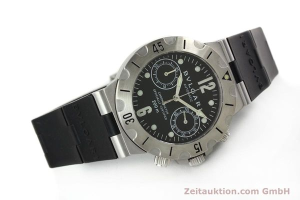 Used luxury watch Bvlgari Scuba chronograph steel automatic Kal. MBBV 2282 Ref. SCB38S  | 142146 03