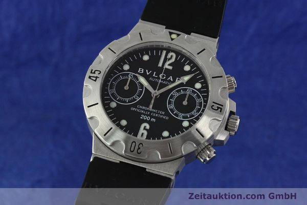 Used luxury watch Bvlgari Scuba chronograph steel automatic Kal. MBBV 2282 Ref. SCB38S  | 142146 04