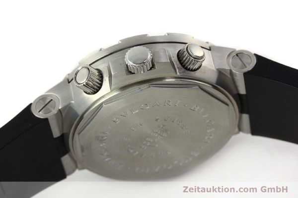 Used luxury watch Bvlgari Scuba chronograph steel automatic Kal. MBBV 2282 Ref. SCB38S  | 142146 08