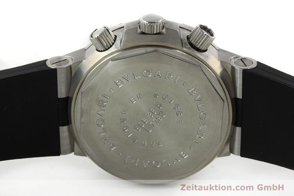 Used luxury watch Bvlgari Scuba chronograph steel automatic Kal. MBBV 2282 Ref. SCB38S  | 142146 09