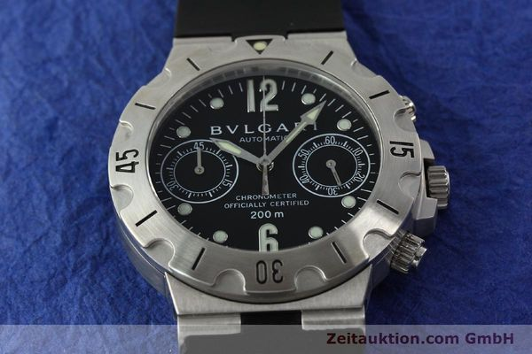 Used luxury watch Bvlgari Scuba chronograph steel automatic Kal. MBBV 2282 Ref. SCB38S  | 142146 15
