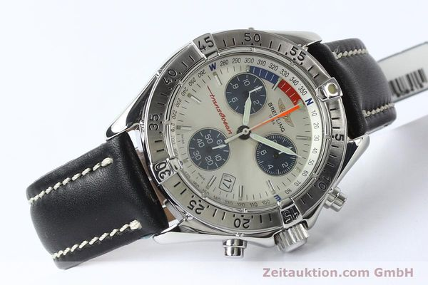 Used luxury watch Breitling Transocean chronograph steel quartz Kal. B53 ETA 251262 Ref. A53040.1  | 142152 03