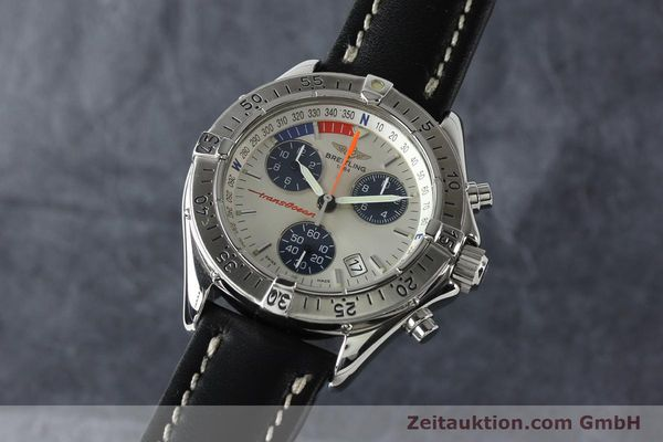 Used luxury watch Breitling Transocean chronograph steel quartz Kal. B53 ETA 251262 Ref. A53040.1  | 142152 04