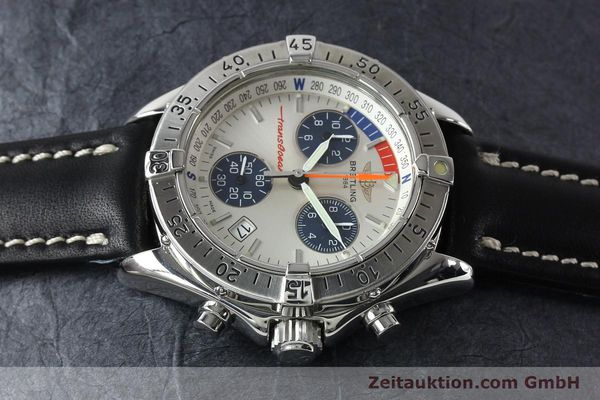 Used luxury watch Breitling Transocean chronograph steel quartz Kal. B53 ETA 251262 Ref. A53040.1  | 142152 05