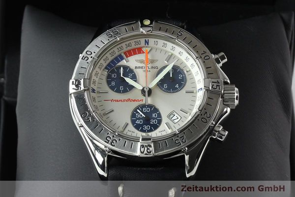 Used luxury watch Breitling Transocean chronograph steel quartz Kal. B53 ETA 251262 Ref. A53040.1  | 142152 07