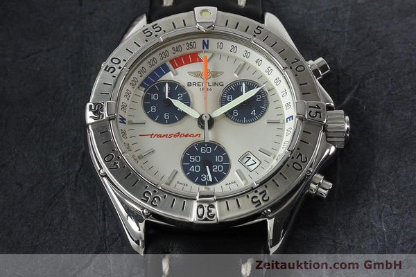 Used luxury watch Breitling Transocean chronograph steel quartz Kal. B53 ETA 251262 Ref. A53040.1  | 142152 13