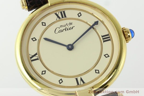 Used luxury watch Cartier Vermeil silver-gilt quartz Kal. 90  | 142156 02