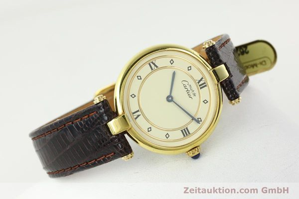 Used luxury watch Cartier Vermeil silver-gilt quartz Kal. 90  | 142156 03