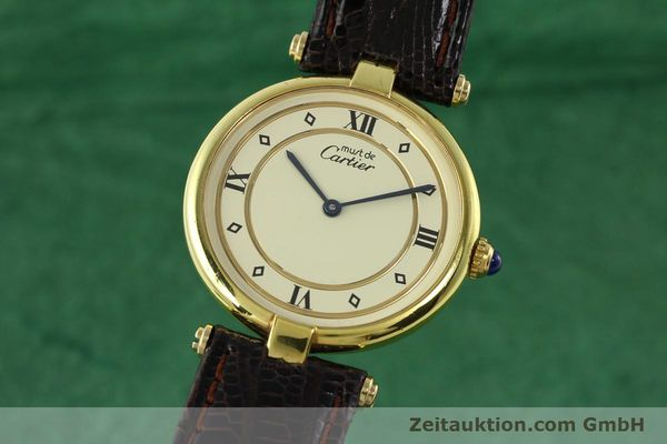 Used luxury watch Cartier Vermeil silver-gilt quartz Kal. 90  | 142156 04