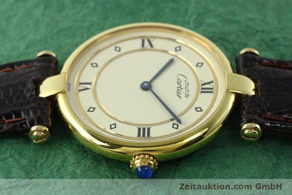 Used luxury watch Cartier Vermeil silver-gilt quartz Kal. 90  | 142156 05