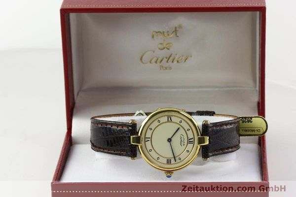 Used luxury watch Cartier Vermeil silver-gilt quartz Kal. 90  | 142156 07
