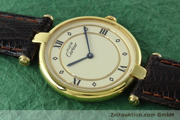 Used luxury watch Cartier Vermeil silver-gilt quartz Kal. 90  | 142156 12