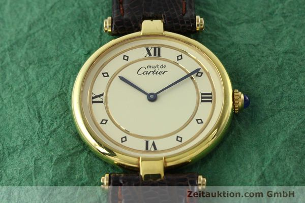 Used luxury watch Cartier Vermeil silver-gilt quartz Kal. 90  | 142156 13