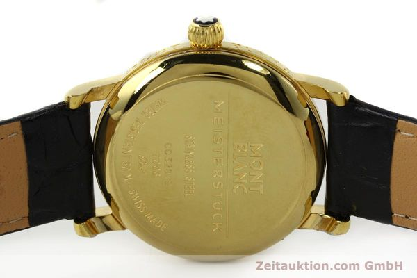 Used luxury watch Montblanc Meisterstück gold-plated manual winding Kal. 4810901 ETA 7001 Ref. 7003  | 142161 09