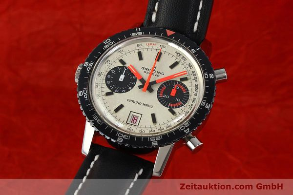 gebrauchte Luxusuhr Breitling Chrono-Matic Chronograph Stahl Automatik Kal. 112 Ref. 2110  | 142162 04