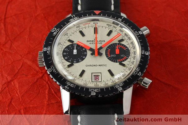 Used luxury watch Breitling Chrono-Matic chronograph steel automatic Kal. 112 Ref. 2110  | 142162 14