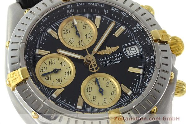 Used luxury watch Breitling Chronomat chronograph steel / gold automatic Kal. B13 ETA 7750 Ref. A13350  | 142166 02