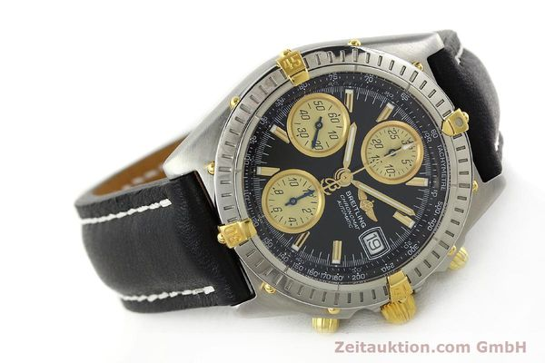 Used luxury watch Breitling Chronomat chronograph steel / gold automatic Kal. B13 ETA 7750 Ref. A13350  | 142166 03