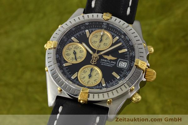 Used luxury watch Breitling Chronomat chronograph steel / gold automatic Kal. B13 ETA 7750 Ref. A13350  | 142166 04