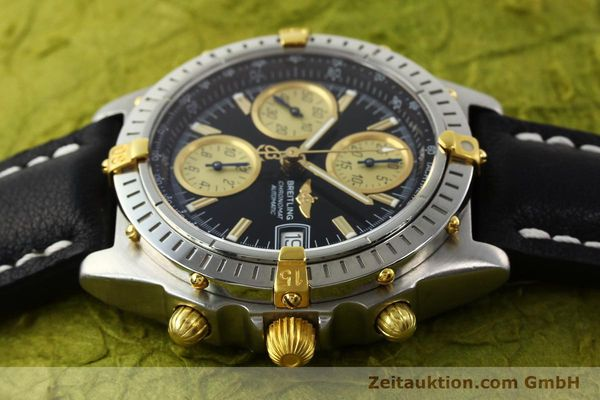 Used luxury watch Breitling Chronomat chronograph steel / gold automatic Kal. B13 ETA 7750 Ref. A13350  | 142166 05
