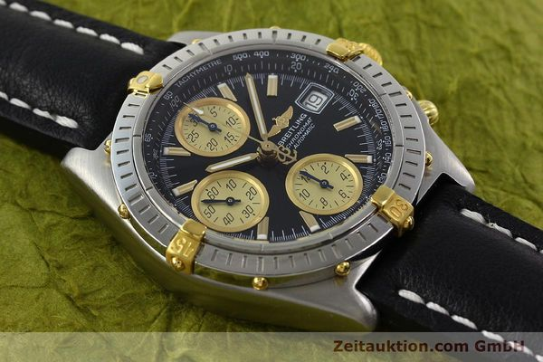 Used luxury watch Breitling Chronomat chronograph steel / gold automatic Kal. B13 ETA 7750 Ref. A13350  | 142166 13