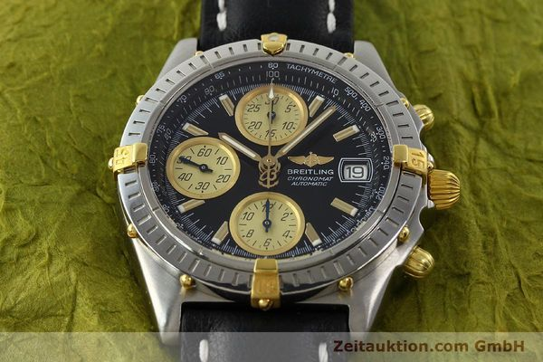 Used luxury watch Breitling Chronomat chronograph steel / gold automatic Kal. B13 ETA 7750 Ref. A13350  | 142166 14