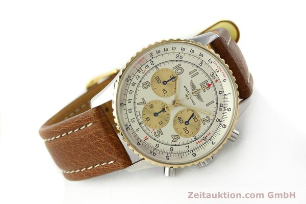 Used luxury watch Breitling Navitimer chronograph steel / gold automatic Kal. B30 ETA 2892A2 Ref. D30021  | 142167 03