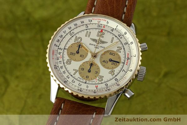 Used luxury watch Breitling Navitimer chronograph steel / gold automatic Kal. B30 ETA 2892A2 Ref. D30021  | 142167 04