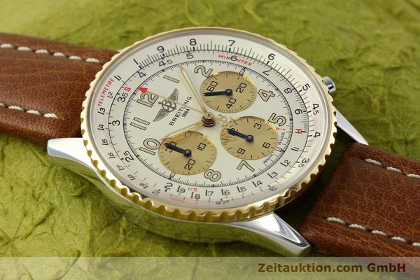 Used luxury watch Breitling Navitimer chronograph steel / gold automatic Kal. B30 ETA 2892A2 Ref. D30021  | 142167 13