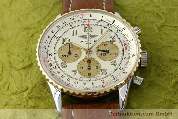 Used luxury watch Breitling Navitimer chronograph steel / gold automatic Kal. B30 ETA 2892A2 Ref. D30021  | 142167 14
