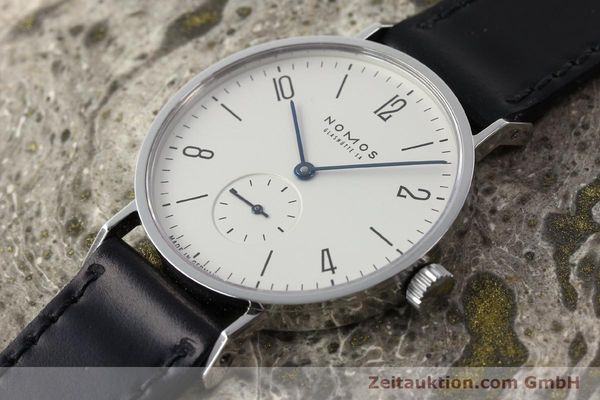 Used luxury watch Nomos Tangente steel manual winding Kal. ETA 7001  | 142168 01