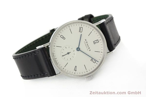 Used luxury watch Nomos Tangente steel manual winding Kal. ETA 7001  | 142168 03