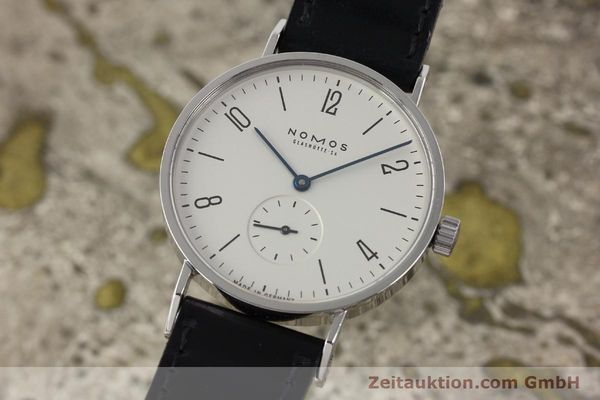 Used luxury watch Nomos Tangente steel manual winding Kal. ETA 7001  | 142168 04