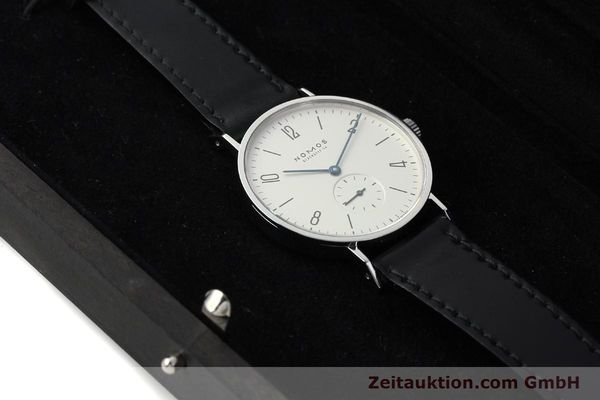 Used luxury watch Nomos Tangente steel manual winding Kal. ETA 7001  | 142168 07