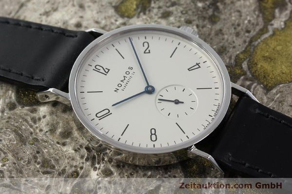Used luxury watch Nomos Tangente steel manual winding Kal. ETA 7001  | 142168 14