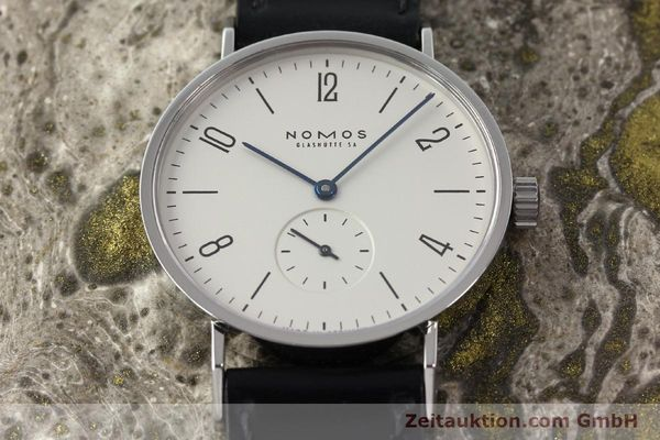 Used luxury watch Nomos Tangente steel manual winding Kal. ETA 7001  | 142168 15