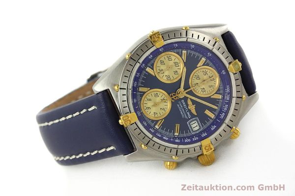 Used luxury watch Breitling Chronomat chronograph steel / gold automatic Kal. VAL 7750 Ref. 81950  | 142184 03