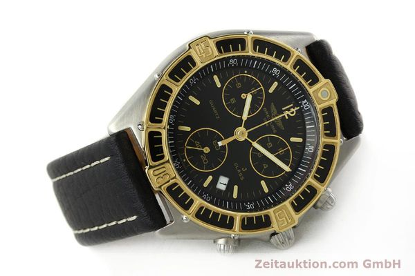 Used luxury watch Breitling J-Class chronograph steel / gold quartz Kal. ETA 251.262 Ref. 80290D53067  | 142186 03