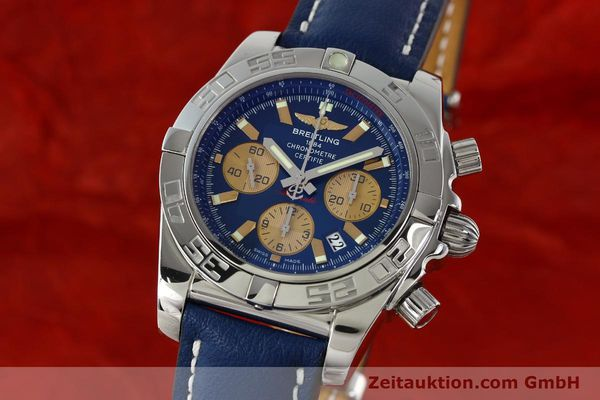 Used luxury watch Breitling Chronomat 44 chronograph steel automatic Kal. B01 Ref. AB0110  | 142190 04