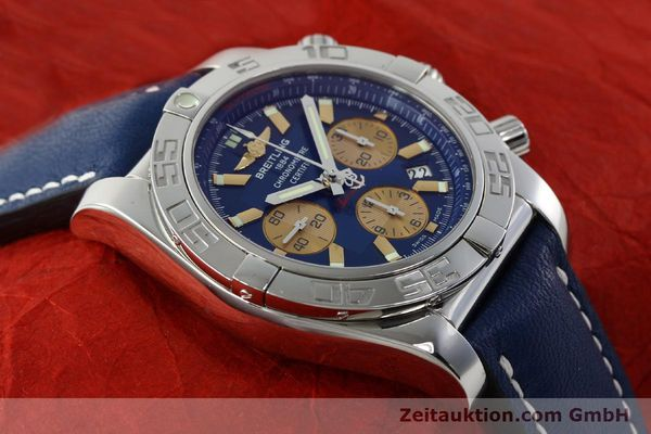Used luxury watch Breitling Chronomat 44 chronograph steel automatic Kal. B01 Ref. AB0110  | 142190 14