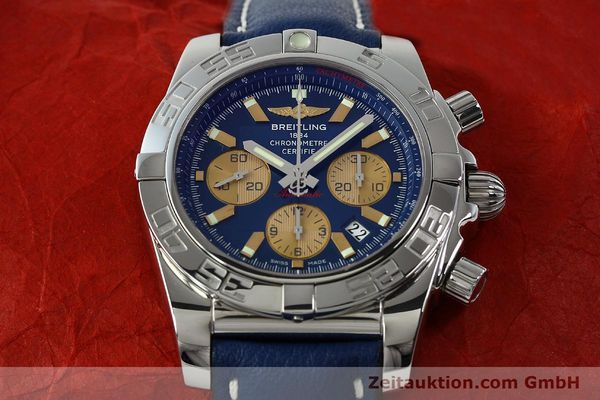 Used luxury watch Breitling Chronomat 44 chronograph steel automatic Kal. B01 Ref. AB0110  | 142190 15