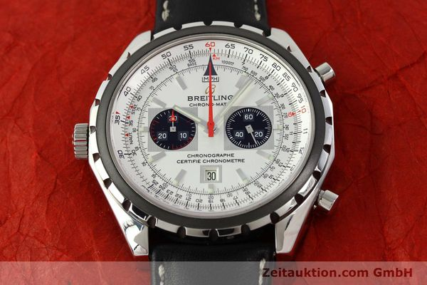 Used luxury watch Breitling Chrono-Matic chronograph steel automatic Kal. B41 ETA 2892A2 Ref. A41360  | 142192 15