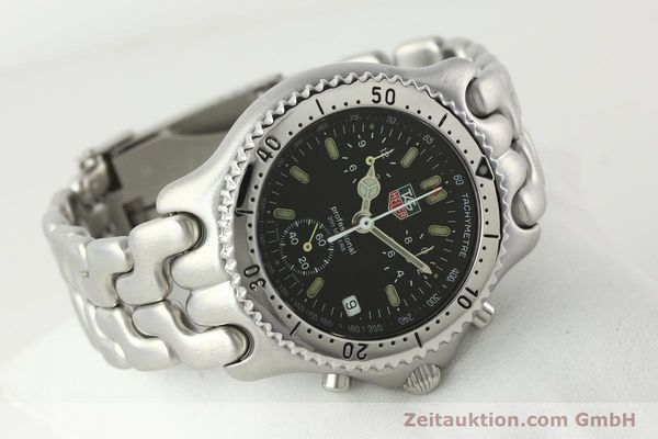 Used luxury watch Tag Heuer Professional chronograph steel quartz Kal. ETA 251.262 Ref. CG1110-0  | 142198 03