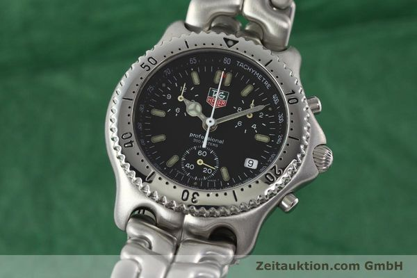 Used luxury watch Tag Heuer Professional chronograph steel quartz Kal. ETA 251.262 Ref. CG1110-0  | 142198 04