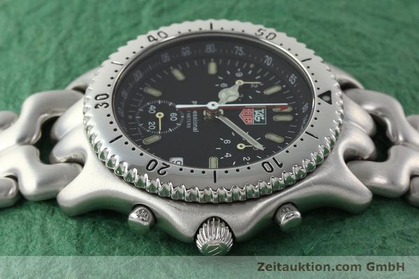 Used luxury watch Tag Heuer Professional chronograph steel quartz Kal. ETA 251.262 Ref. CG1110-0  | 142198 05